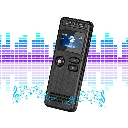 Lychee Grabadora de voz digital profesional, USB 1536 Kbps 8 GB grabadora...