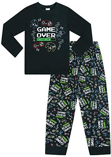 The Pyjama Factory Game Over - Pijama de algodón, Color Negro Negro Negro (15-16 años