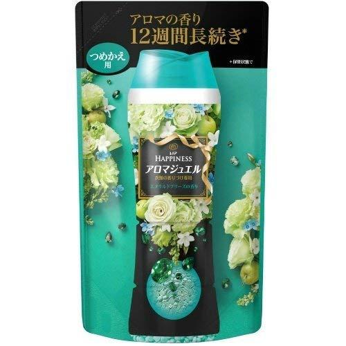 P&G レノア ハピネス アロマジュエル エメラルドブリーズの香り 詰替え 455ml ×3点セット(洗濯用芳香剤 衣類用 つめかえ)(4902430704557)