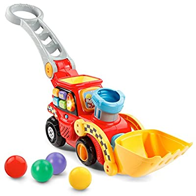 VTech Pop-a-Balls Push and Pop Bulldozer Amazon Exclusive,Red