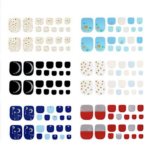 Pixnor 132 Pcs Adhésif Ongle Autocollant Ongle Décalque Étanche Nail Art Autocollant
