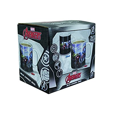 Marvel Boxed Mug Heat Change Avengers | Heat Sensitive Colour Changing Coffee & Tea Cup | Sensitive to Hot Drinks | Colour & Design Changes When Hot | Great Gift for All Ages by Paladone