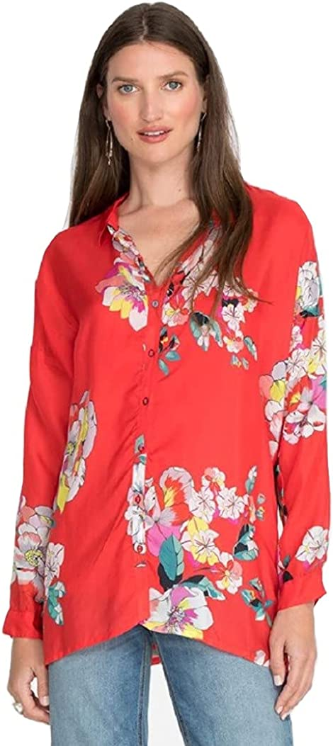 Johnny Was Passion Iris Button Down Shirt - C11321A5 (Multi