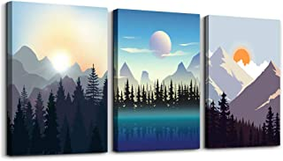 Wall Art for living room Canvas Prints Artwork bathroom Wall Decor Abstract Sunrise and..