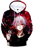 Silver Basic Tokyo Ghoul Giapponese Anime Jacket Adulto Cosplay Ken Kaneki Casual 3D Felpa,Modello B-2,S