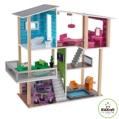 KidKraft Modernes Wohnhaus aus Holz