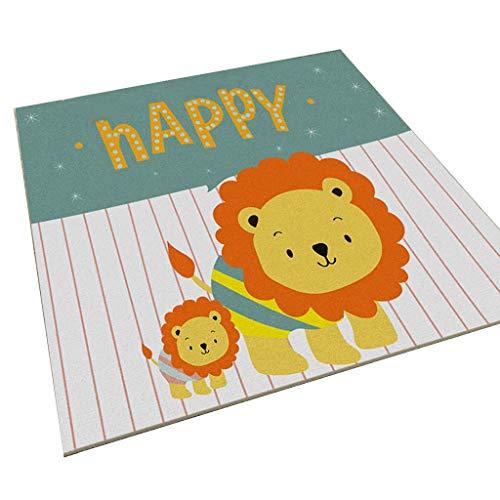 Brilliant firm Teppiche Teppich/Yoga kriechende Decke/Schlafzimmer Nacht Rutschfeste Teppich/Wohnzimmer Türmatte/Kinderzimmer Cartoon Teppich (Color : Green, Size : 140 * 200cm)