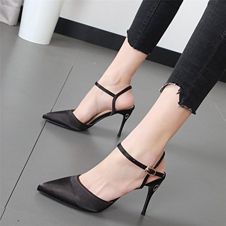 Xue Qiqi Fein mit High Heels Mdchen spitze Schuhe Sandalen Frauen Gericht Damenschuhe