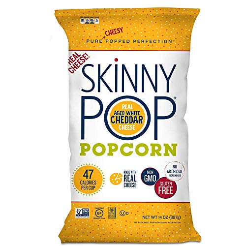 Best Deals! SkinnyPop Popcorn - Aged White Cheddar, Gluten-Free Non-GMO Real Cheese (14 oz.)