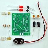 Adjustable Transistor Astable Multivibrator Circuit Learn Kit, LED Flashing, Practical Sol...