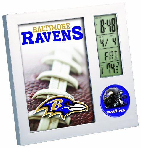 NFL Baltimore Raves Desk Clock