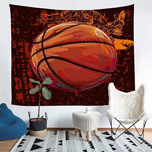 Manta de baloncesto para colgar en la pared, diseño de bola 3D, para niños, niñas, baloncesto, deporte, ropa de cama, microfibra, manta de cama, 122 x 189 cm
