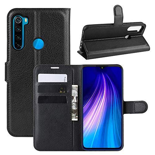 Capa Capinha Carteira 360 Para Xiaomi Redmi Note 8 Normal Tela De 6.3Polegadas Case Couro Flip Wallet - Danet (Preto)