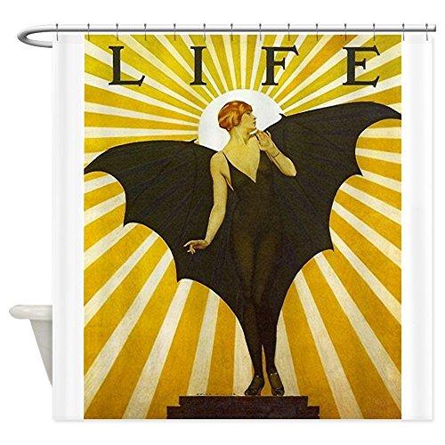 CHATAE Art Deco Fledermaus Lady Pin Up Flapper Vorhang für die Dusche–Standard weiß