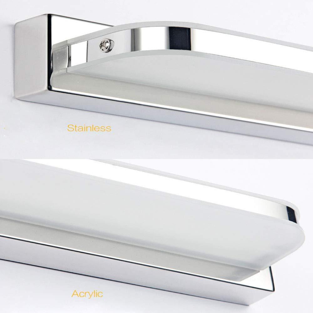 HENGMEI 10W Blanco frio L/ámpara de espejo Aplique Espejo Aplique de Ba/ño LED IP44 Acrilico L/ámpara de Pared