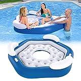 UNIVIEW Isla Flotante, sillón reclinable de Agua for Adultos for niños Grandes Cama Flotante colchón Inflable Tres Personas Flotante Fila Piscina Cama