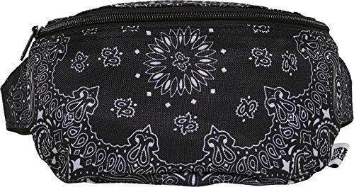 Urban Classics Unisex Bandana Print Hip Bag, black, one size