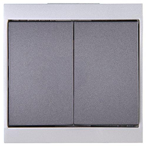 Kopp Serien-Schalter Malta anthrazit-silber 620515085
