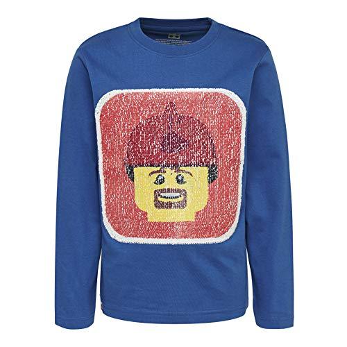 LEGO City Cm-50321-Langarmshirt Mit Wendepailletten T-Shirt À Manches Longues, Bleu (Blue 553), 95 (Taille Fabricant: 80) Bébé garçon