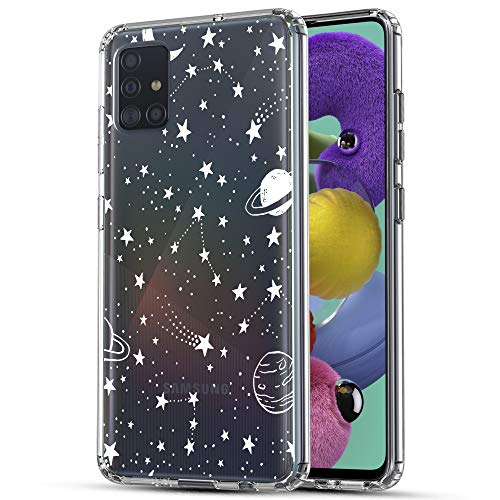 Galaxy A71 5G Case, RANZ Anti-Scratch Shockproof Series Clear Hard PC+ TPU Bumper Protective Cover Case for Samsung Galaxy A71 (5G) [Does NOT fit Verizon A71 5G UW] - Universe