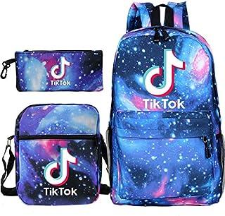 Hip Hop 3 PCS/set Tik Tok 3 Backpack Sac A Dos Kpop School Bags for Teenage Girls Causal Bag Bag + small shoulder bag + pe...
