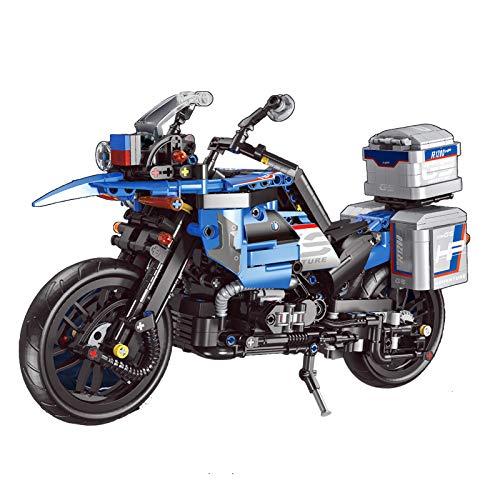 BOXX Technik 922 Teile Adventure Motorrad für BMW R 1200, Motorrad Kompatibel mit Lego Technic