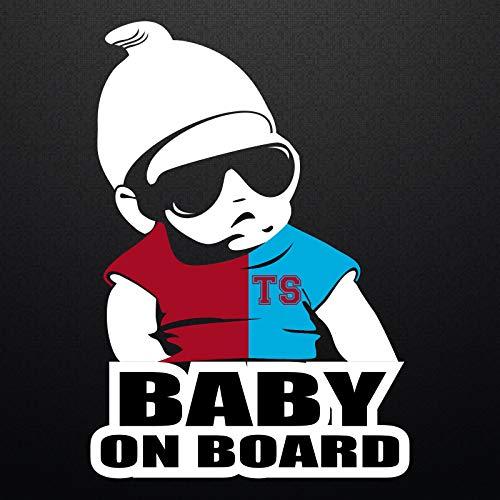 Autoaufkleber Baby On Board Trabzonspor Karadeniz Firtinasi Sticker Wandtattoo 20x14cm