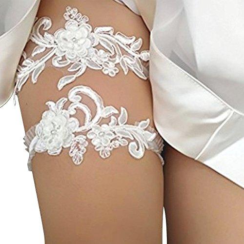 2-teilig / Satz Western Stil Hochzeit Strumpfbänder für Braut Pailletten Spitze Brautkleid Zubehör Strumpfhalter Beine Kreis