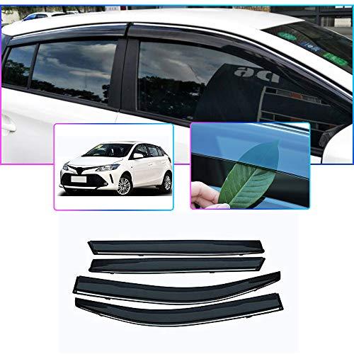 Auto Windabweiser Für T oyota Yaris L Hatchback (XP150R) 2014-2018 Seitenfenster Blockiere die Sonne und den Regen Durchscheinender Fensterabweiser 4 Stück Set