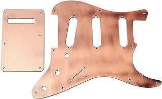Healifty Guitar Pickguard Metal Pickup Pickguard Scratch Plate HH for ST Fender Electric Guitar (Copper)