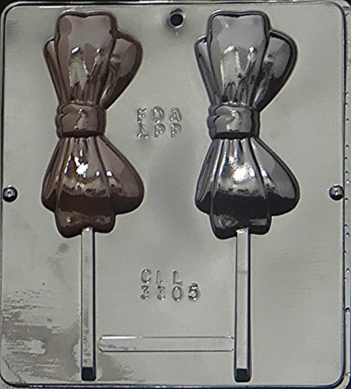 Bow Tie Lollipop Chocolate Candy Mold 3305