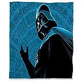 ARYAGO Manta de franela de terciopelo de franela de 180 x 230 cm, manta de franela peluda de Star Wars, antiestática, ligera microfibra Acdtion Adventure Cyborg Darth