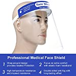 5 Pcs Face Shield Protect Eyes and Face with Clear Open Protective Film, Elastic Band and Comfort Sponge, Anti,Dust,Pollution,Fog Professional Medical Face Shield Bullet Points