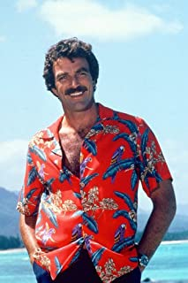 Magnum, P.I. Tom Selleck in classic red Hawaiian Shirt 24x36 Poster