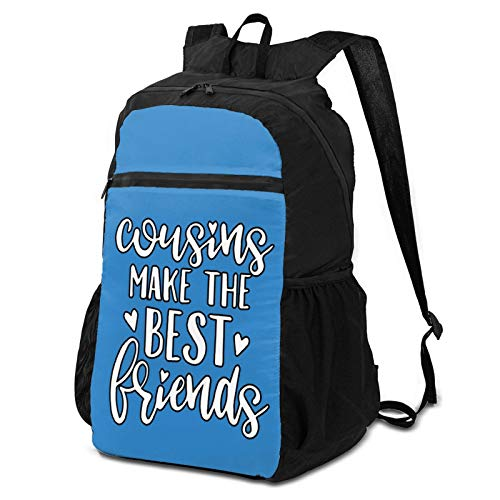 BNUJSAGIF Cousins Make The Best Friends (2) Ultra Lightweight Hiking Travel Backpack Durable Water Repellent Packable Backpack Daypack, Handy Foldable Camping Outdoor Backpack for Women & Men