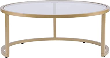 SEI Furniture Evelyn Glam Nesting 2-pc Set, Coffee Table, Gold