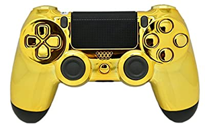 Gold PS4 Modded Pro Rapid Fire Controller, Works with All Games, COD, Rapid Fire, Dropshot, Akimbo & More