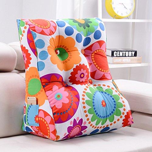Coussins triangulaires, coussins de canapé de chevet, oreiller de coussin de chaise de bureau, peuvent être utilisés pour la taille, lire le coussin d'oreiller (Couleur : #2, taille : 45 * 30 * 55CM)