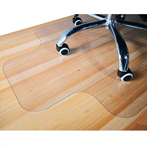 Giovara - Alfombrilla transparente con labio para silla para suelos duros, 90 x 120 cm, alta resistencia al impacto, antideslizante, material no reciclable