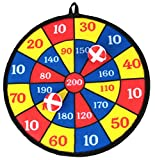 Children's Hanging Dartboard for Indoor or Outdoor Use. Includes 2 Balls with Velcro Coating
