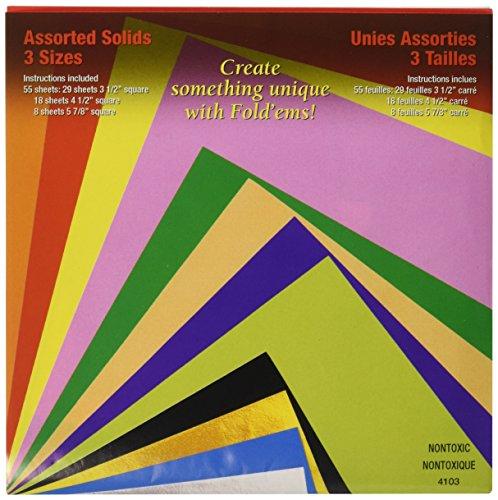 Yasutomo Piegare ' EMS Origami Carta 55/Pkg-assortiti Colori
