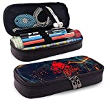 Rainbow Six Siege Leather Pencil Case Bleistifttasche mit großer Kapazität Make-up-Stifttasche Langlebiges Studentenpapier mit doppeltem Reißverschlussstifthalter für Schule/Büro