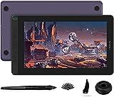HUION 2020 Kamvas 13 Graphic Drawing Monitor 2-in-1 Pen Display & Drawing Tablet Screen Full-Laminated Tilt Function Battery-Free Stylus, 8192 Pen Pressure and 8 Shortcut Keys, Purple
