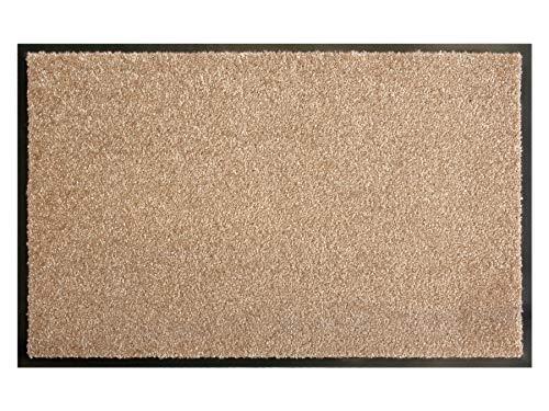 Primaflor - Ideen in Textil Schmutzfangmatte CLEAN – Creme 60x90 cm, Waschbare, rutschfeste, Pflegeleichte Fußmatte, Eingangsmatte, Küchenläufer Sauberlauf-Matte, Türvorleger für Innen & Außen