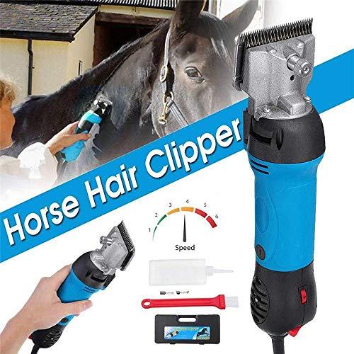 Pferdeschermaschine Schermaschine Tierschermaschine,690W & 6 Modus Regulierbar Pferdeschermaschine Haarschneidemaschine Elektrische Pferde Schere,Zubehör für Pferde|Pferde Pflege Schwein Kuh