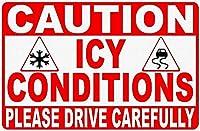 注意氷 金属板ブリキ看板警告サイン注意サイン表示パネル情報サイン金属安全サイン