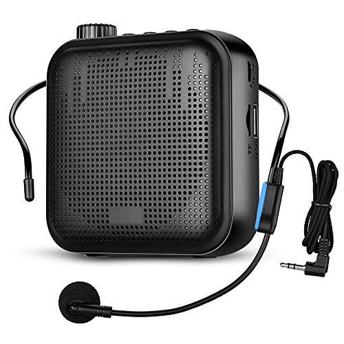 Portátil Voz Amplificador Fr Enseñanza Guía Altavoz + Auricular Micrófono Con Sistema...