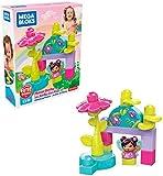Mega Bloks set de bloques de construcción hadas con su jardin de flores para niños + 1 año (Mattel GKX77)