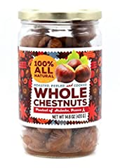 GOURMANITY CHESTNUT JAR: 14.8 oz Jar of 100% all natural, whole, roasted and peeled chestnuts CONVENIENT: These whole chestnuts are ready to eat straight from the jar, making them a great and healthy snack choice ENRICH YOUR DISHES: Take your cooking...