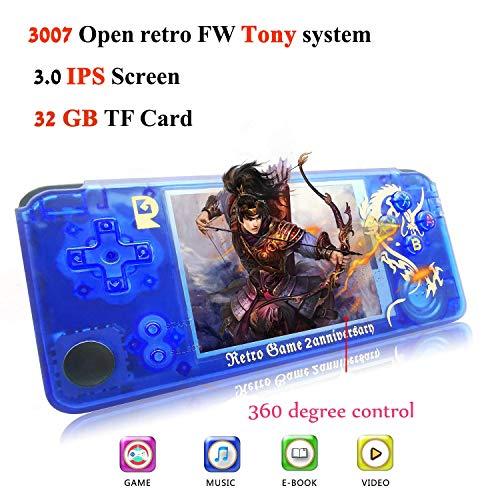 BAORUITENG Handheld Game Console, Retro Game Console 3 Inch HD Screen 3000...